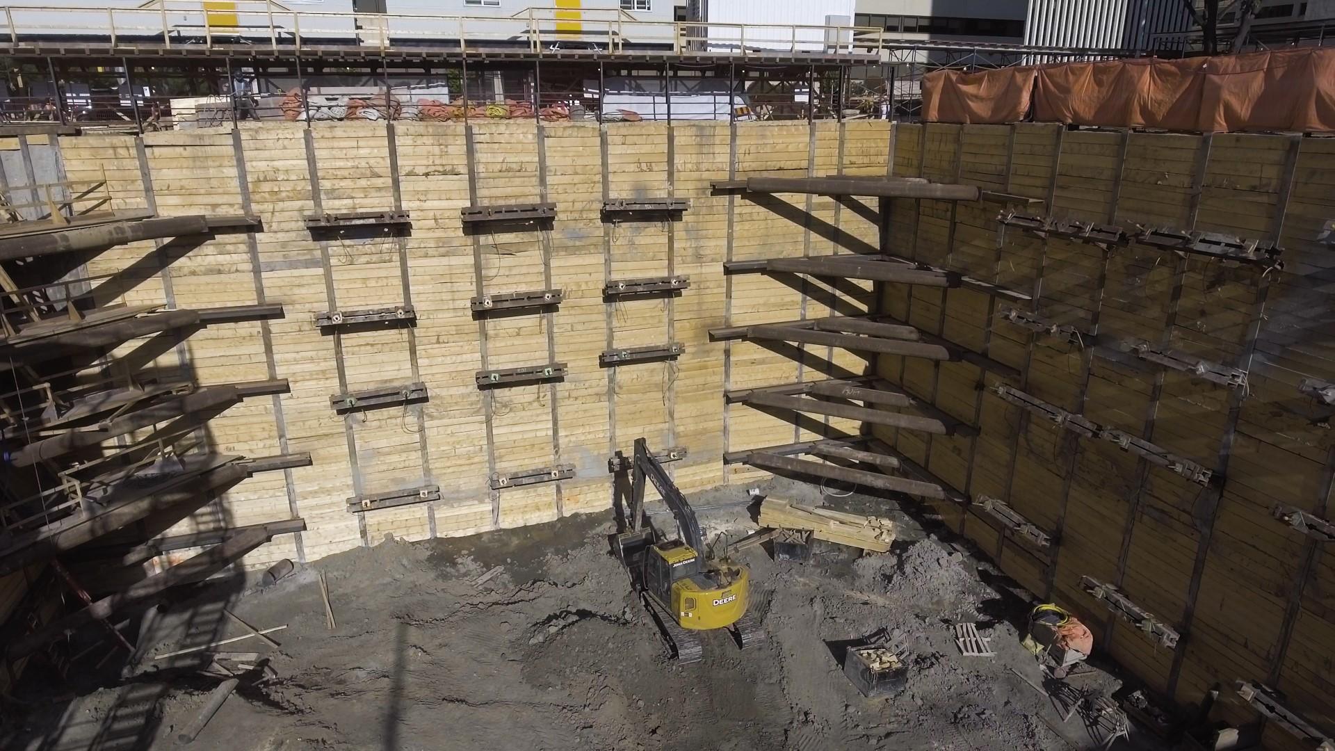 shoring wall