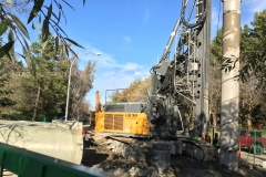 Secant pile drilling MH10